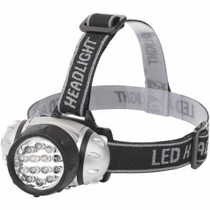 LED Hoofdlamp - Aigi Heady - Waterdicht - 35 Meter - Kantelbaar - 14 LED's - 1W - Zilver | Vervangt 8W