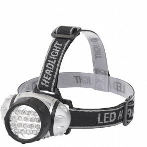 LED Hoofdlamp - Aigi Heady - Waterdicht - 35 Meter - Kantelbaar - 18 LED's - 1.1W - Zilver | Vervangt 9W
