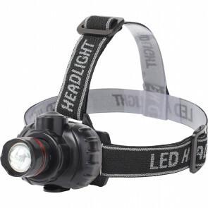 LED Hoofdlamp - Aigi Xixo - Waterdicht - 50 Meter - Kantelbaar - 1 LED - 1.8W - Zwart | Vervangt 10W