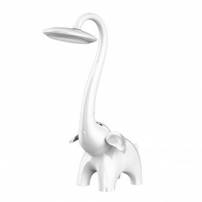 LED Kinder Nachtlamp - Tafellamp - Olifant - Wit - Touch - Dimbaar