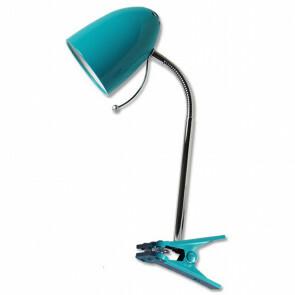 LED Klemlamp - Aigi Wony - E27 Fitting - Flexibele Arm - Rond - Glans Blauw
