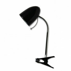 LED Klemlamp - Aigi Wony - E27 Fitting - Flexibele Arm - Rond - Glans Zwart