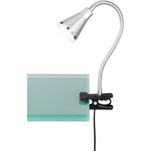 LED Klemlamp - Trion Arora - 3W - Warm Wit 3000K - Glans Titaan - Kunststof