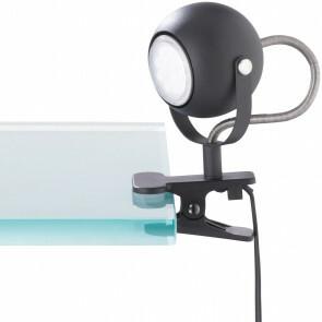 LED Klemlamp - Trion Bosty - GU10 Fitting - Mat Zwart - Aluminium