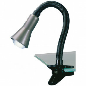 LED Klemlamp - Trion Fexy - E14 Fitting - Glans Grijs - Kunststof