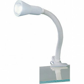 LED Klemlamp - Trion Fexy - E14 Fitting - Glans Wit - Kunststof