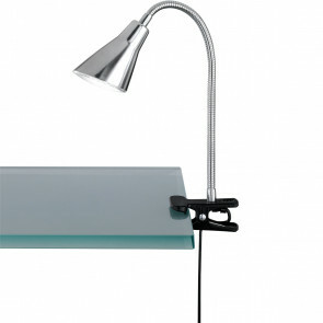 LED Klemlamp - Trion Preta - 3W - Warm Wit 3100K - Mat Nikkel - Kunststof