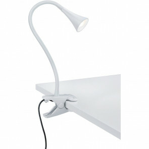 LED Klemlamp - Trion Vipa - 3W - Warm Wit 3000K - Glans Wit - Kunststof