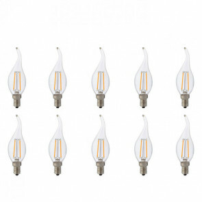 LED Lamp 10 Pack- Kaarslamp - Filament Flame - E14 Fitting - 2W - Natuurlijk Wit 4200K