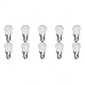 LED Lamp 10 Pack - Aigi Santra - 1.5W - E14 Fitting - Warm Wit 3000K - Mat Wit - Glas