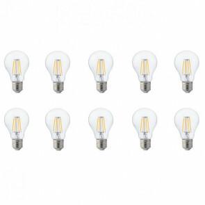 LED Lamp 10 Pack - Filament - E27 Fitting - 4W - Natuurlijk Wit 4200K