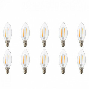 LED Lamp 10 Pack - Kaarslamp - Filament - E14 Fitting - 2W - Warm Wit 2700K