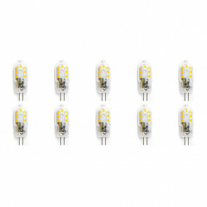 LED Lamp 10 Pack - Aigi - G4 Fitting - 2W - Helder/Koud Wit 6500K | Vervangt 20W