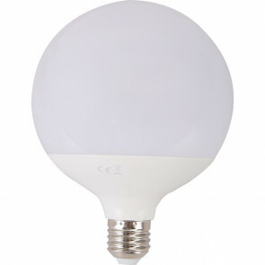 LED Lamp - Aigi Lido - Bulb G120 - E27 Fitting - 18W - Warm Wit 3000K - Wit