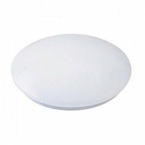 LED Lamp - Basic - Opbouw Rond 15W - Helder/Koud Wit 6400K - Mat Wit Aluminium - Ø230mm