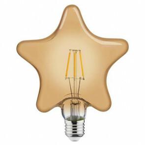 LED Lamp - Filament Rustiek - Ster - E27 Fitting - 6W - Warm Wit 2200K