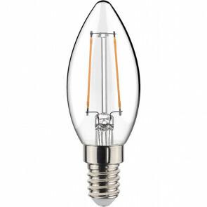 LED Lamp - Filament - Sanola Syno - 2W - E14 Fitting - Warm Wit 2700K - Transparent Helder - Glas