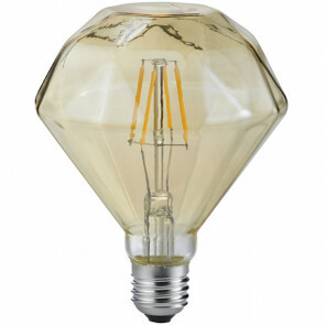 LED Lamp - Filament - Trion Dimano - E27 Fitting - 4W - Warm Wit 2700K - Amber - Aluminium