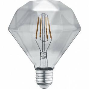 LED Lamp - Filament - Trion Dimano - E27 Fitting - 4W - Warm Wit 3000K - Rookkleur - Glas