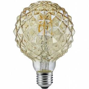 LED Lamp - Filament - Trion Globin - E27 Fitting - 4W - Warm Wit 2700K - Amber - Aluminium