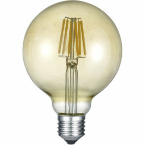 LED Lamp - Filament - Trion Globin - E27 Fitting - 6W - Warm Wit 2700K - Amber - Aluminium
