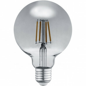 LED Lamp - Filament - Trion Globin - E27 Fitting - 6W - Warm Wit 3000K - Rookkleur - Aluminium