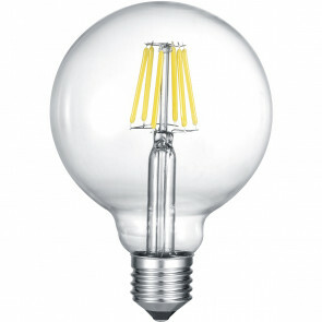 LED Lamp - Filament - Trion Globin - E27 Fitting - 6W - Warm Wit 3000K - Transparent Helder - Aluminium