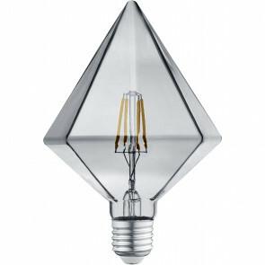 LED Lamp - Filament - Trion Krolin - E27 Fitting - 4W - Warm Wit 3000K - Rookkleur - Glas
