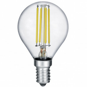 LED Lamp - Filament - Trion Topus - 4W - E14 Fitting - Warm Wit 3000K - Transparent Helder - Aluminium