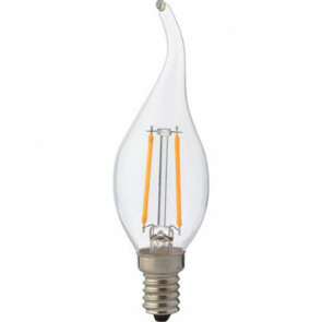 LED Lamp - Kaarslamp - Filament Flame - E14 Fitting - 2W - Natuurlijk Wit 4200K