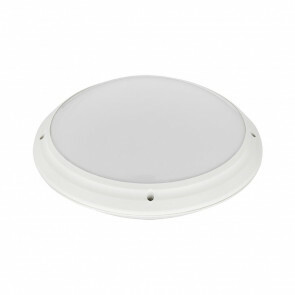 LED Lamp - Opbouw Rond - Waterdicht IP65 - E27 - Mat Wit Kunststof - Ø275mm