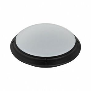 LED Lamp - Opbouw Rond - Waterdicht IP65 - E27 - Mat Zwart Kunststof - Ø275mm