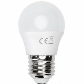 LED Lamp - Smart LED - Aigi Exona - Bulb G45 - 7W - E27 Fitting - Slimme LED - Wifi LED - Aanpasbare Kleur - Mat Wit - Glas