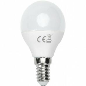 LED Lamp - Smart LED - Aigi Kiyona - Bulb G45 - 5W - E14 Fitting - Slimme LED - Wifi LED - Aanpasbare Kleur - Mat Wit - Glas