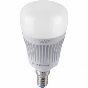 LED Lamp WiZ - Trion Akusti - E14 Fitting - 7W - Slimme LED - Dimbaar - RGBW - Mat Wit - Kunststof