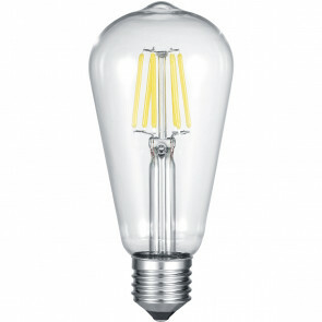 LED Lamp WiZ - Trion Akusti - E27 Fitting - 6W - Slimme LED - Dimbaar - Nachtlicht - Transparent Helder - Glas