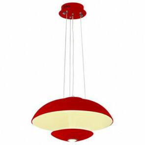LED Modern Design Plafondlamp / Plafondverlichting Viesta 24W Natuurlijk Wit 4000K Aluminium Rode Armatuur