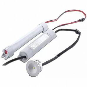 LED Noodverlichting op Batterijen - Viron Nivon - 3W - Natuurlijk Wit 5500K - Inbouw - Mat Wit - Kunststof