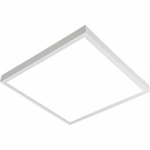 LED Paneel - 60x60 Helder/Koud Wit 6400K - 45W Opbouw Vierkant - Mat Wit - Flikkervrij
