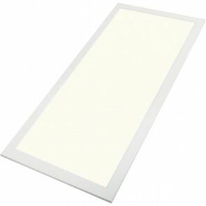 LED Paneel - Aigi - 30x60 Natuurlijk Wit 4000K - 25W Inbouw Rechthoek - Mat Wit - Aluminium