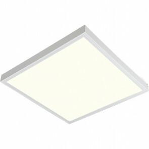 LED Paneel - Aigi Clena - 30x30 Natuurlijk Wit 4000K - 12W Opbouw Vierkant - Mat Wit - Flikkervrij
