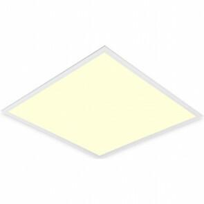 LED Paneel - Aigi Clena - Dimbaar - 60x60 Warm Wit 3000K - 40W Inbouw Vierkant - Mat Wit - Flikkervrij