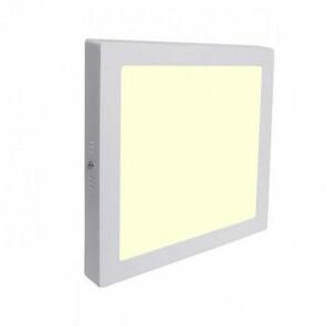 LED Spot / LED Downlight / LED Paneel Set BSE Slim Vierkant Opbouw 18W 3000K Warm Wit 225mm Spatwaterdicht