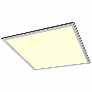 LED Paneel Systeemplafond Set BSE Vierkant 50W 3000K Warm Wit 60x60cm Zilver Armatuur IP20