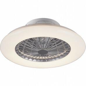 LED Plafondlamp met Ventilator - Plafondventilator - Trion Romina - 30W - Rond - Mat Titaan - Kunststof