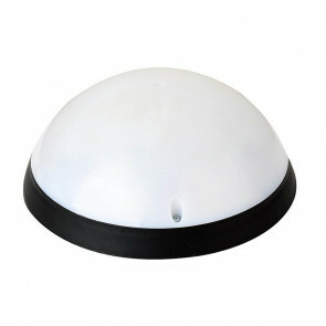 LED Plafondlamp - Opbouw Rond 12W - Waterdicht IP54 - Helder/Koud Wit 6400K - Mat Zwart Kunststof