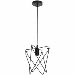 LED Plafondlamp - Plafondverlichting - Kapi - Industrieel - Rond - Mat Zwart Aluminium - E27