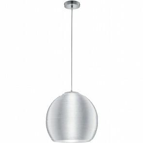 LED Plafondlamp - Plafondverlichting - Trion Licon XL - E27 Fitting - Rond - Mat Chroom - Aluminium