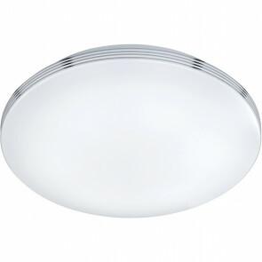 LED Plafondlamp - Trion Apity - Opbouw Rond 18W - Spatwaterdicht IP44 - Warm Wit 3000K - Glans Chroom - Aluminium