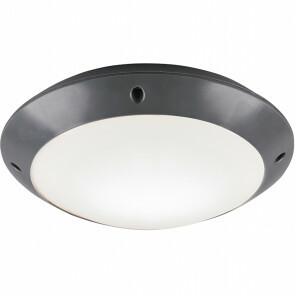 LED Plafondlamp - Trion Camiro - Opbouw Rond - Waterdicht IP54 - E27 Fitting - Mat Zwart - Kunststof